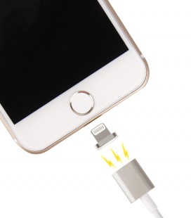 Baltas magnetinis iPhone 6/7 - USB laidas