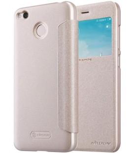 """Atverčiamas auksinės spalvos dėklas Xiaomi Redmi 4X telefonui """"Nillkin Sparkle S-View"""""""