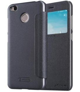 """Atverčiamas juodas dėklas Xiaomi Redmi 4X telefonui """"Nillkin Sparkle S-View"""""""