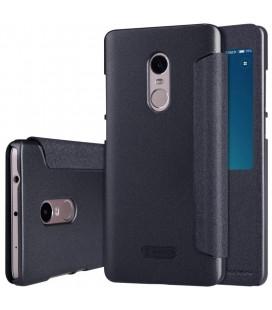 """Atverčiamas juodas dėklas Xiaomi Redmi Note 4 telefonui """"Nillkin Sparkle S-View"""""""