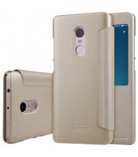 """Atverčiamas auksinės spalvos dėklas Xiaomi Redmi Note 4 telefonui """"Nillkin Sparkle S-View"""""""