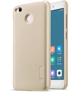 """Auksinės spalvos plastikinis dėklas Xiaomi Redmi 4X telefonui """"Nillkin Frosted Shield"""""""
