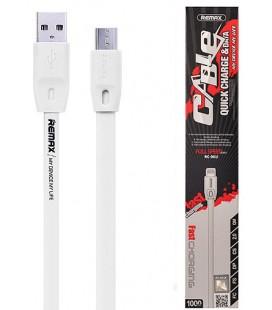 """Baltas USB - MicroUSB laidas 1m """"Remax RC-001m"""""""