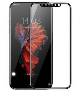 """Juodas apsauginis grūdintas stiklas Apple iPhone X telefonui """"Mocolo"""""""