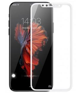 """Baltas apsauginis grūdintas stiklas Apple iPhone X telefonui """"Mocolo"""""""