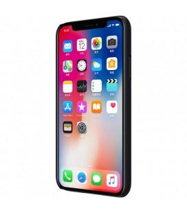 """Juodos spalvos odinis atverčiamas """"iCarer Vintage"""" Apple iPhone 7 / 8 dėklas"""