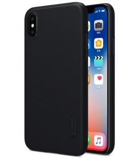 """Juodas plastikinis dėklas Apple iPhone X telefonui """"Nillkin Frosted Shield"""""""