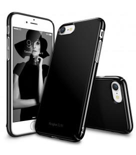 """Juodas blizgus dėklas Apple iPhone 7/8 telefonui """"Ringke Slim"""""""