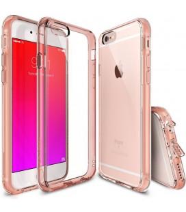 """Rausvai auksinės spalvos dėklas Apple iPhone 6/6s telefonui """"Ringke Fusion"""""""