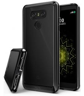 """Juodas dėklas LG G6 telefonui """"Ringke Fusion"""""""