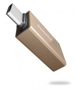 "Auksinės spalvos adapteris OTG USB 3.0 - Type C ""Remax"""