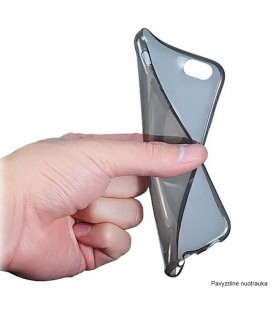 """Sidabrinės spalvos silikoninis dėklas Huawei Honor 8 telefonui """"Glossy"""""""
