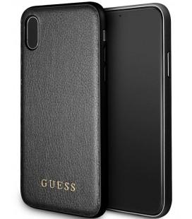 """Juodas dėklas Apple iPhone X telefonui """"Guess Iridescent"""""""