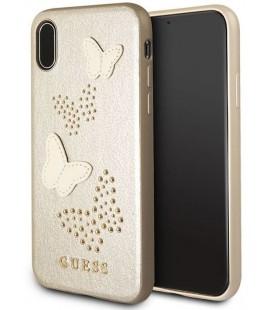 """Smėlio spalvos dėklas Apple iPhone X telefonui """"Guess Studs & Sparkles"""""""