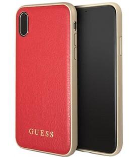 """Raudonas dėklas Apple iPhone X telefonui """"Guess Iridescent"""""""