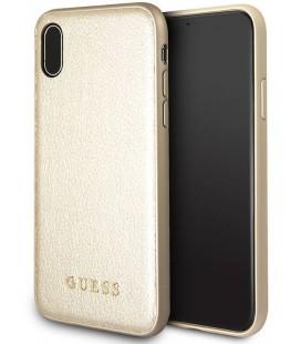 """Auksinės spalvos dėklas Apple iPhone X telefonui """"Guess Iridescent"""""""