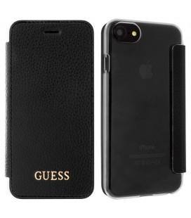 """Juodas atverčiamas dėklas Apple iPhone 7/8 telefonui """"Guess Iridescent Book"""""""