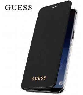 """Juodas atverčiamas dėklas Samsung Galaxy S8 telefonui """"Guess Iridescent Book"""""""