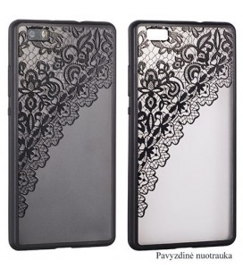 "Juodas dėklas su ornamentais Apple iPhone 7/8 telefonui ""Lace Case D2"""