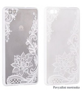 "Baltas dėklas su ornamentais Apple iPhone 7/8 telefonui ""Lace Case D4"""