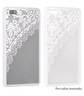 "Baltas dėklas su ornamentais Apple iPhone 6/6s telefonui ""Lace Case D2"""