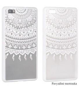 """Baltas dėklas su ornamentais Samsung Galaxy S7 Edge telefonui """"Lace Case D1"""""""