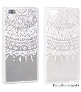 "Baltas dėklas su ornamentais Apple iPhone 6/6s telefonui ""Lace Case D1"""