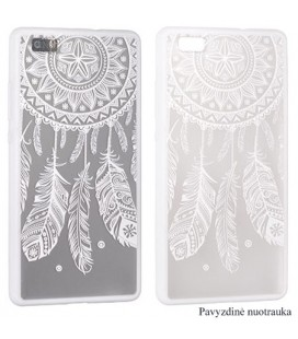 "Baltas dėklas su ornamentais Apple iPhone 5/5s/SE telefonui ""Lace Case D3"""