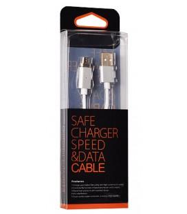 Juodas magnetinis MicroUSB - USB laidas
