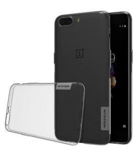 """Pilkas silikoninis dėklas OnePlus 5 telefonui """"Nillkin Nature"""""""