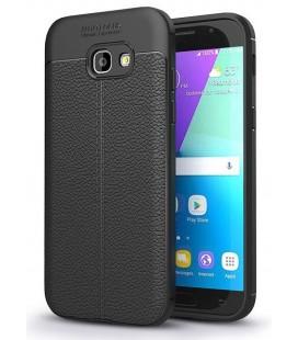 """Juodas dėklas Samsung Galaxy A5 2017 telefonui """"Tech-Protect TPULeather"""""""