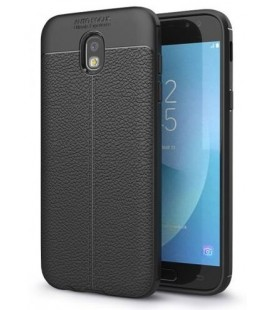 """Juodas dėklas Samsung Galaxy J3 2017 telefonui """"Tech-Protect TPULeather"""""""