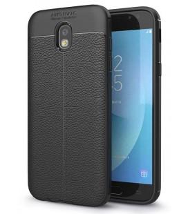 """Juodas dėklas Samsung Galaxy J7 2017 telefonui """"Tech-Protect TPULeather"""""""