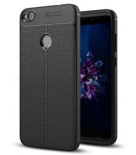 """Juodas dėklas Huawei P8/P9 Lite 2017 telefonui """"Tech-Protect TPULeather"""""""