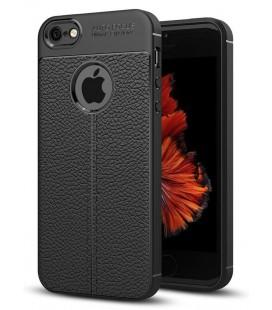 """Juodas dėklas Apple iPhone 5/5s/SE telefonui """"Tech-Protect TPULeather"""""""