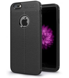 """Juodas dėklas Apple iPhone 6/6s telefonui """"Tech-Protect TPULeather"""""""