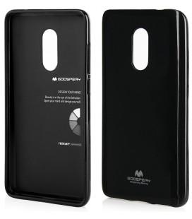 """Juodas silikoninis dėklas Xiaomi Redmi Note 4/4x telefonui """"Mercury Goospery Pearl Jelly Case"""""""