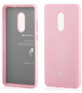 """Šviesiai rožinis silikoninis dėklas Xiaomi Redmi Note 4/4x telefonui """"Mercury Goospery Pearl Jelly Case"""""""