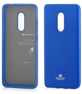 "Mėlynas silikoninis dėklas Xiaomi Redmi Note 4/4x telefonui ""Mercury Goospery Pearl Jelly Case"""