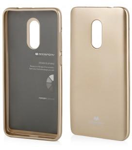 """Auksinės spalvos silikoninis dėklas Xiaomi Redmi Note 4/4x telefonui """"Mercury Goospery Pearl Jelly Case"""""""