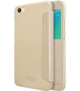 """Atverčiamas auksinės spalvos dėklas Xiaomi Redmi Note 5A telefonui """"Nillkin Sparkle S-View"""""""
