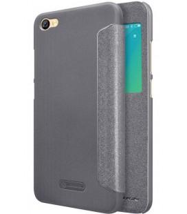 """Atverčiamas juodas dėklas Xiaomi Redmi Note 5A telefonui """"Nillkin Sparkle S-View"""""""