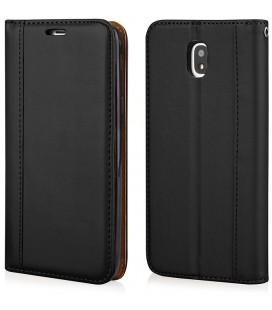 """Juodas atverčiamas dėklas Samsung Galaxy J5 2017 telefonui """"Elegance"""""""