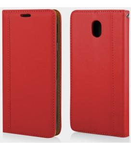 """Raudonas atverčiamas dėklas Samsung Galaxy J5 2017 telefonui """"Elegance"""""""