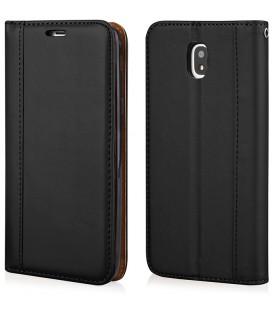 """Juodas atverčiamas dėklas Samsung Galaxy J3 2017 telefonui """"Elegance"""""""