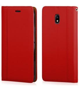 """Raudonas atverčiamas dėklas Samsung Galaxy J3 2017 telefonui """"Elegance"""""""