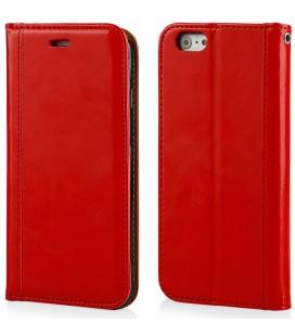 """Raudonas atverčiamas dėklas Apple iPhone 6/6s telefonui """"Elegance"""""""