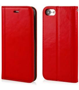 """Raudonas atverčiamas dėklas Apple iPhone 7/8 telefonui """"Elegance"""""""