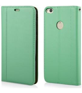 """Mėtos spalvos atverčiamas dėklas Huawei P8/P9 Lite 2017 telefonui """"Elegance"""""""