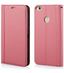"""Rožinis atverčiamas dėklas Huawei P8/P9 Lite 2017 telefonui """"Elegance"""""""